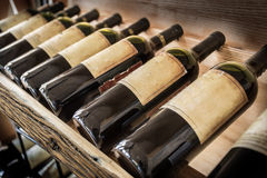 Old wine bottles. Royalty Free Stock Photos