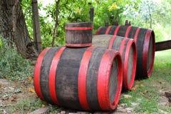 Old wine burrels Stock Image
