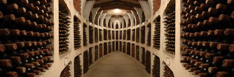 Old wine cellar Stock Images