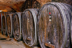 Old Wine Cellar With Barrels Royalty Free Stock Image