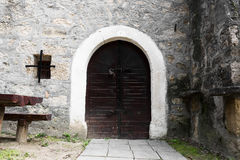 Old wine cellar door Royalty Free Stock Images