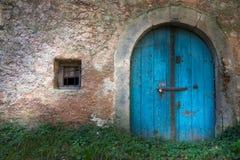 Old wine cellar door Stock Image