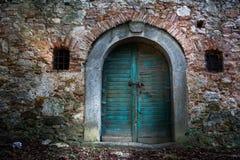 Old wine cellar door Stock Photography