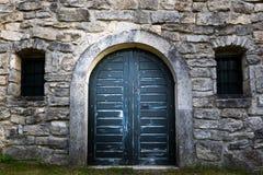 Old wine cellar door Stock Photo