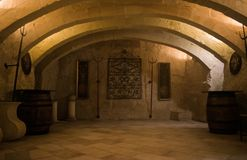 An Old Wine Cellar. An 18th century baroque Old Wine Cellar Royalty Free Stock Photos
