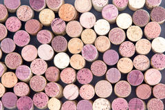 Old wine corks arranged in a background pattern Royalty Free Stock Photography