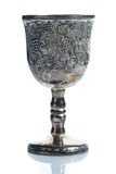 Old wine goblets. On white background Royalty Free Stock Photo