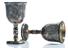 Old wine goblets Royalty Free Stock Photography
