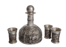 Old wine jug pewter Royalty Free Stock Photography