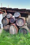 Old wine kegs Stock Photos