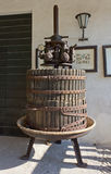 Old Wine Press Stock Photo