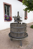 Old Wine Press. Old disused German Wine Press at a winery Stock Photo