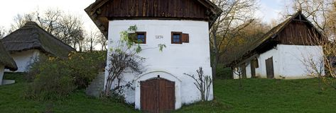 Old wine press house and cellar. Heiligenbrunn, Burgenland, Austria Royalty Free Stock Photos