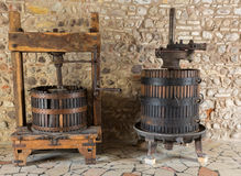 Old Wine Press. Traditional old Technique of Wine Making Royalty Free Stock Photos