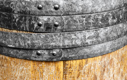 Old wine wooden barrel Royalty Free Stock Images