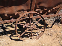 Old Winery Wagon. An old rusted winery wagon in Barossa, South Australia's wine country stock image