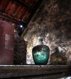 Old winery. An old winery with old wine jugs Royalty Free Stock Photography