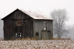 Old Winter Barn Royalty Free Stock Photography