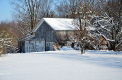 Old Winter Barn Stock Photos