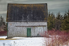 Old Winter Barn Stock Image