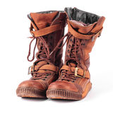 Old winter boots sneakers Royalty Free Stock Images