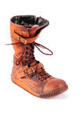 Old winter boots sneakers Stock Image