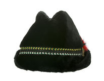 Old winter furry black hat Stock Image