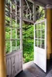 Old winter garden. Old wooden winter garden - nice background royalty free stock photos