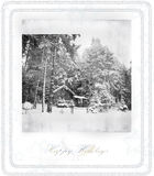 Old winter photo Royalty Free Stock Images