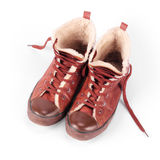 Old winter sneakers Stock Images