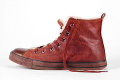 Old winter sneakers Royalty Free Stock Photography