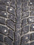 Old Winter tire Royalty Free Stock Image