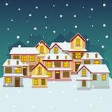 Old winter town Royalty Free Stock Images