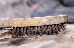 Old  wire brush Royalty Free Stock Photo