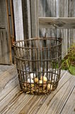 Old wire egg basket Stock Images