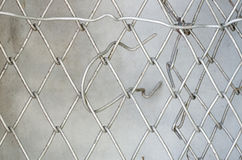 Old Wire Mesh.Simple wired fence pattern.Old metal grid Royalty Free Stock Photography