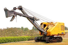 Old wire rope shovel crane Royalty Free Stock Image