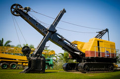 Old wire rope shovel crane Royalty Free Stock Photo