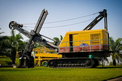 Old wire rope shovel crane Royalty Free Stock Images
