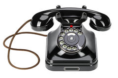 Old wired phone. A forgotten old bakelite wired phone in recent times royalty free stock photography