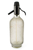 Old wired siphon glass bottle Royalty Free Stock Image