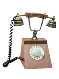 Old wired telephone Stock Photo