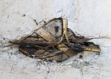 Old wiring in the wall Royalty Free Stock Photos