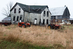 Old Wisconsin Dairy Farm Farmhouse Stock Photos