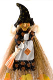 Old witch dressed in Halloween dress Royalty Free Stock Images