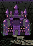 Old witch scary castle background Stock Photography