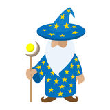 Old wizard cartoon character Stock Image