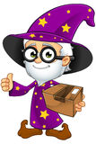 Old Wizard In Purple - Holding A Parcel Royalty Free Stock Photos