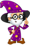 Old Wizard In Purple - Having An Idea Royalty Free Stock Photos