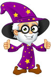 Old Wizard In Purple - Two Thumbs Up Stock Image